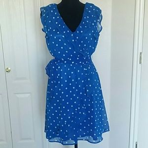 Forever 21 royal blue poka dot dress